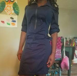 Max studio navy blue dress